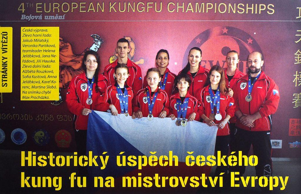 Naše reprezentace na ME Kung Fu v Tbilisi