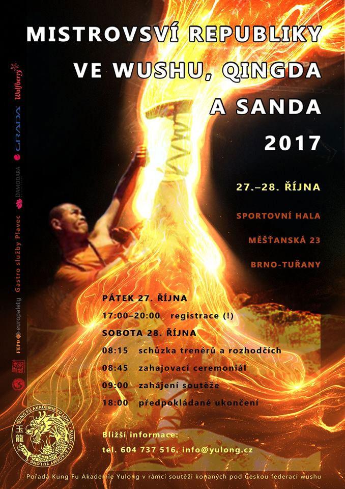 Mistrovství republiky ve Wushu, Qindga a sanda 2017