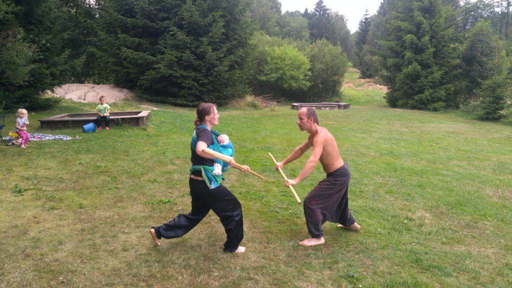 Trénink kung-fu s dětmi