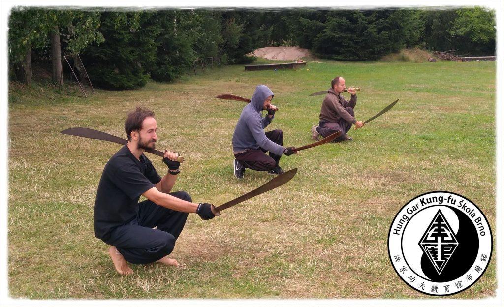 Kung-fu trénink venku