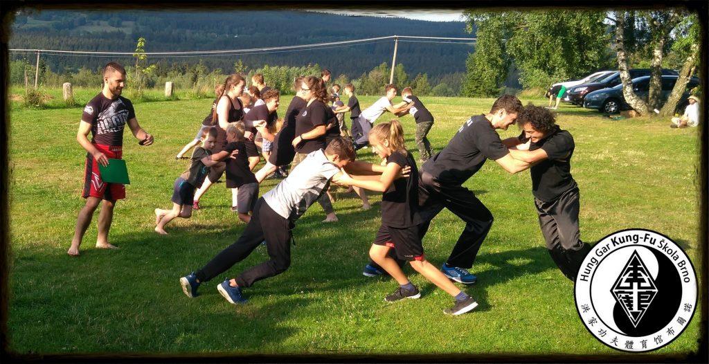 letní trénink Kung-fu
